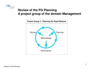Review of the PG Planning A project group of the domain Management