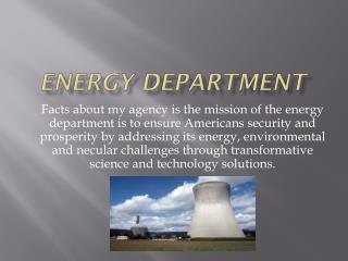 Energy department