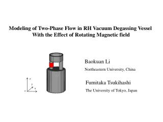 Modeling of Two-Phase Flow in RH Vacuum Degassing Vessel