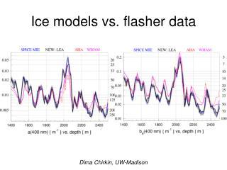 Ice models vs. flasher data