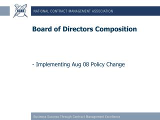 Board of Directors Composition
