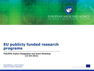 EU publicly funded research programs