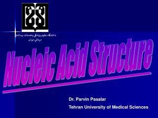 Dr. Parvin Pasalar Tehran University of Medical Sciences