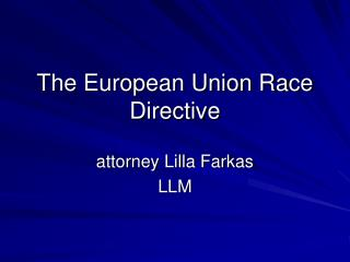 The European Union Race Directive