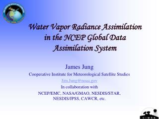 Water Vapor Radiance Assimilation in the NCEP Global Data Assimilation System