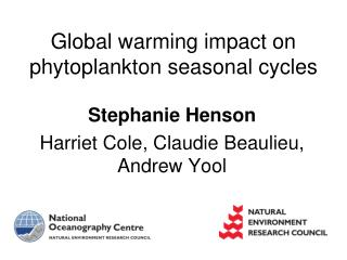 Global warming impact on phytoplankton seasonal cycles