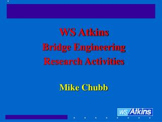 WS Atkins  Bridge Engineering  Research Activities Mike Chubb