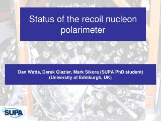 Status of the recoil nucleon polarimeter