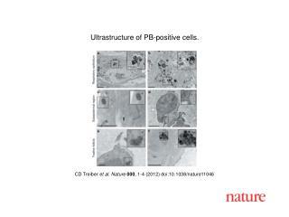CD Treiber  et al .  Nature 000 ,  1 - 4  (2012) doi:10.1038/nature11046