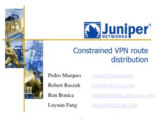 Constrained VPN route distribution