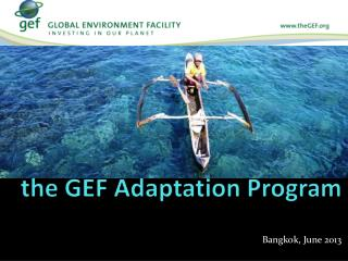 Financing Adaptation under the GEF Adaptation Program