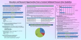 Areas  needing research Patient and pressure ulcer  assessment