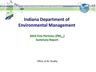 Indiana Department of Environmental Management