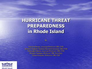 HURRICANE THREAT PREPAREDNESS in Rhode Island