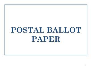 POSTAL BALLOT PAPER