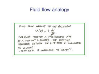 Fluid flow analogy