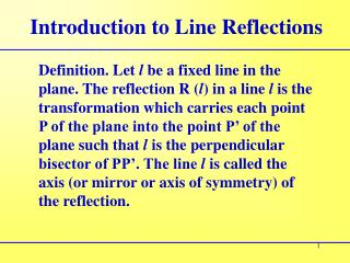 Introduction to Line Reflections