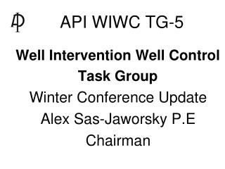 API WIWC TG-5