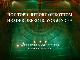 KOREA HYDRO AND NUCLEAR POWER COMPANY
