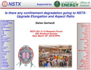 Is there any confinement degradation going to NSTX-Upgrade Elongation and Aspect Ratio