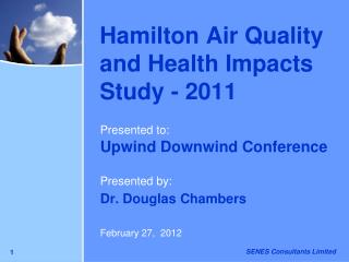 Hamilton Air Quality and Health Impacts Study - 2011