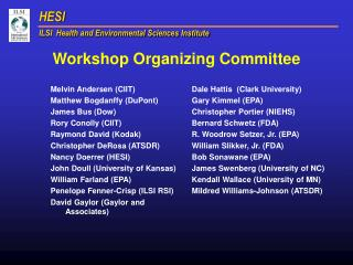 Workshop Organizing Committee
