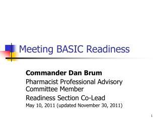 Meeting BASIC Readiness