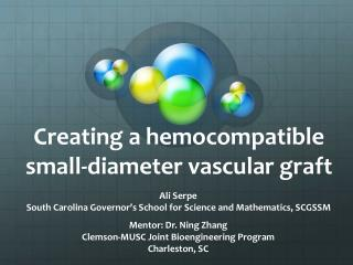 Creating a hemocompatible small-diameter vascular graft
