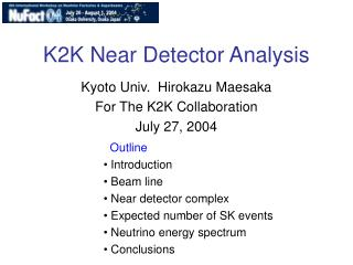 K2K Near Detector Analysis