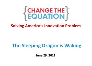 Solving America ' s Innovation Problem