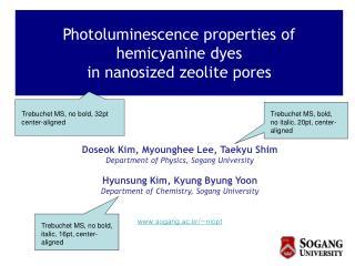Photoluminescence properties of hemicyanine dyes in nanosized zeolite pores