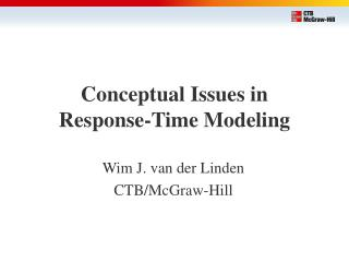 Conceptual Issues in  Response-Time Modeling