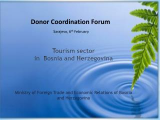 Tourism sector in  Bosnia and Herzegovina