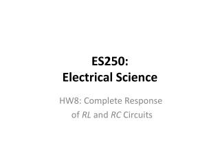 ES250: Electrical Science