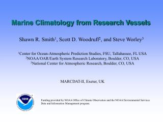 Marine Climatology from Research Vessels