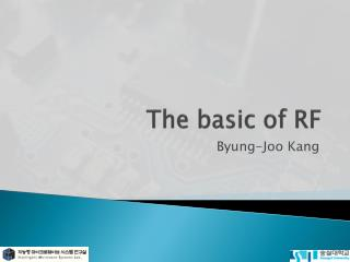 The basic of RF