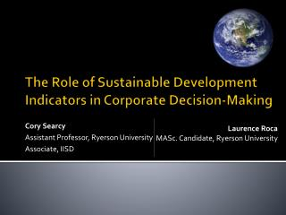 The Role of Sustainable Development Indicators in Corporate Decision-Making
