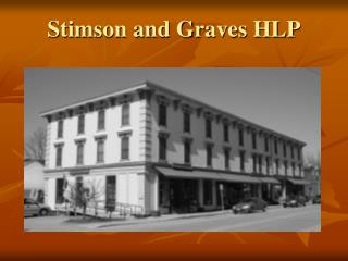 Stimson and Graves HLP