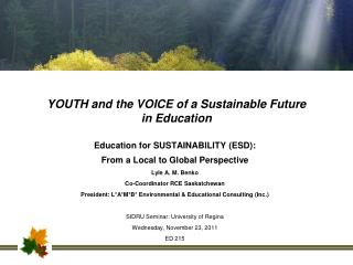 YOUTH and the VOICE of a Sustainable Future in Education