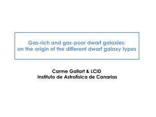 Gas-rich and gas-poor dwarf galaxies: o n the origin of the different dwarf galaxy types