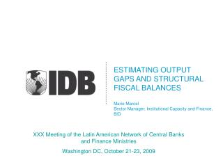 XXX Meeting of the Latin American Network of Central Banks and Finance Ministries