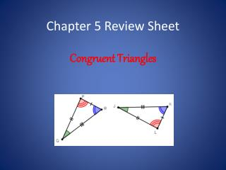 Chapter 5 Review Sheet