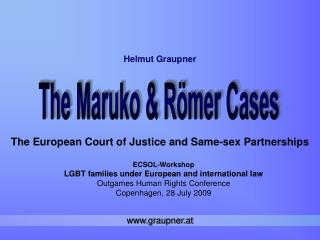 ECSOL-Workshop LGBT families under European and international law Outgames Human Rights Conference