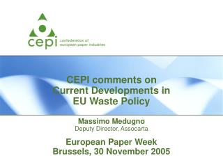 European Paper Week Brussels, 30 November 2005