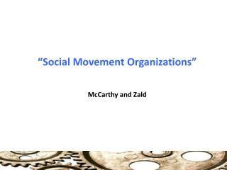 �Social Movement Organizations�