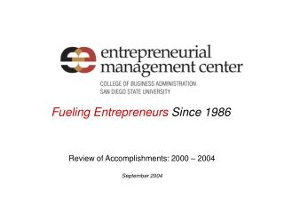 Fueling Entrepreneurs  Since 1986