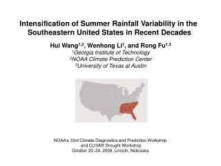 Intensification of Summer Rainfall Variability in the