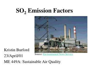 SO 2  Emission Factors
