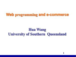 Web programming and e-commerce