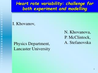 Heart rate variability: challenge for both experiment and modelling